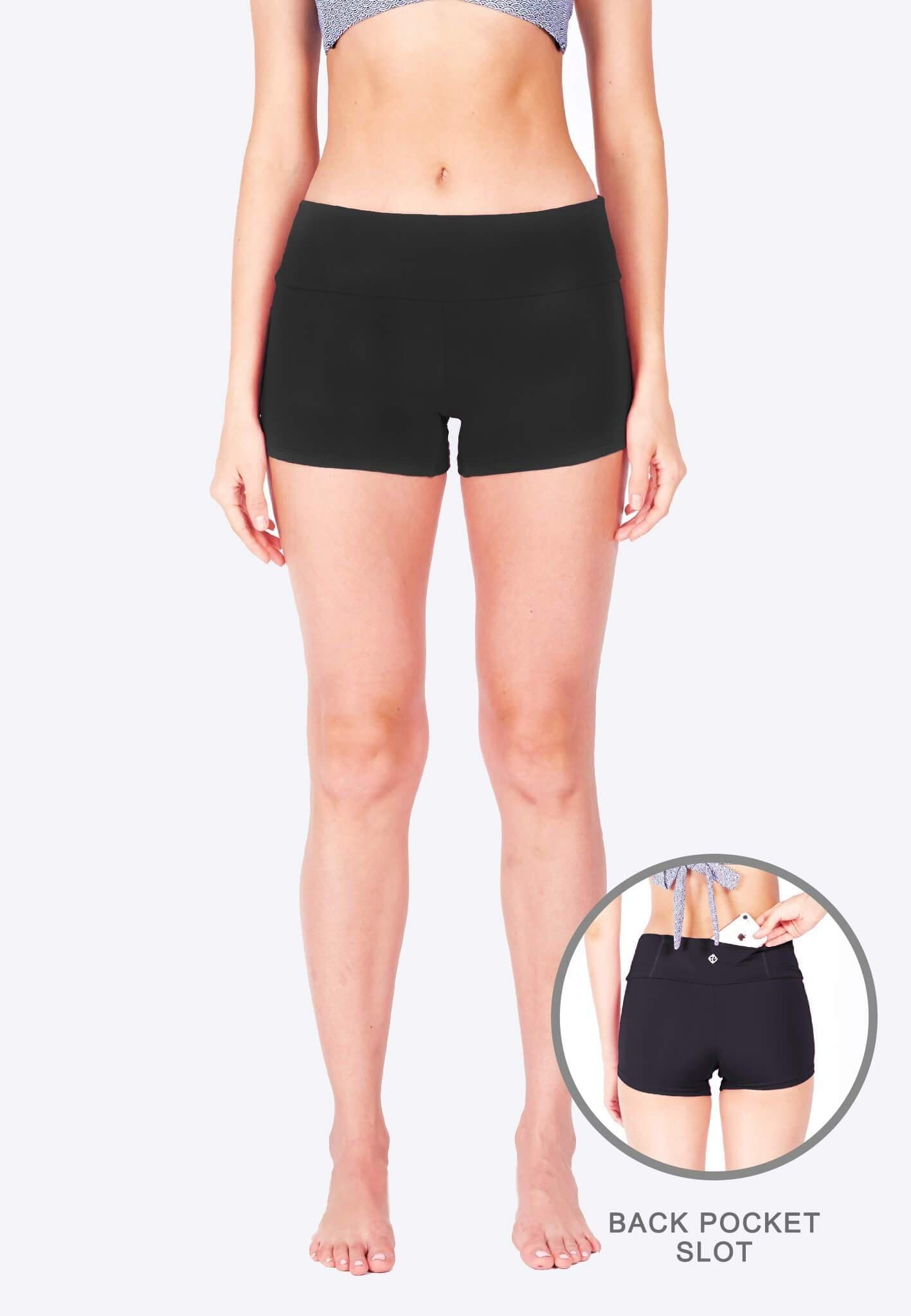 Athleiswim™ Boyshorts in Black - FUNFIT