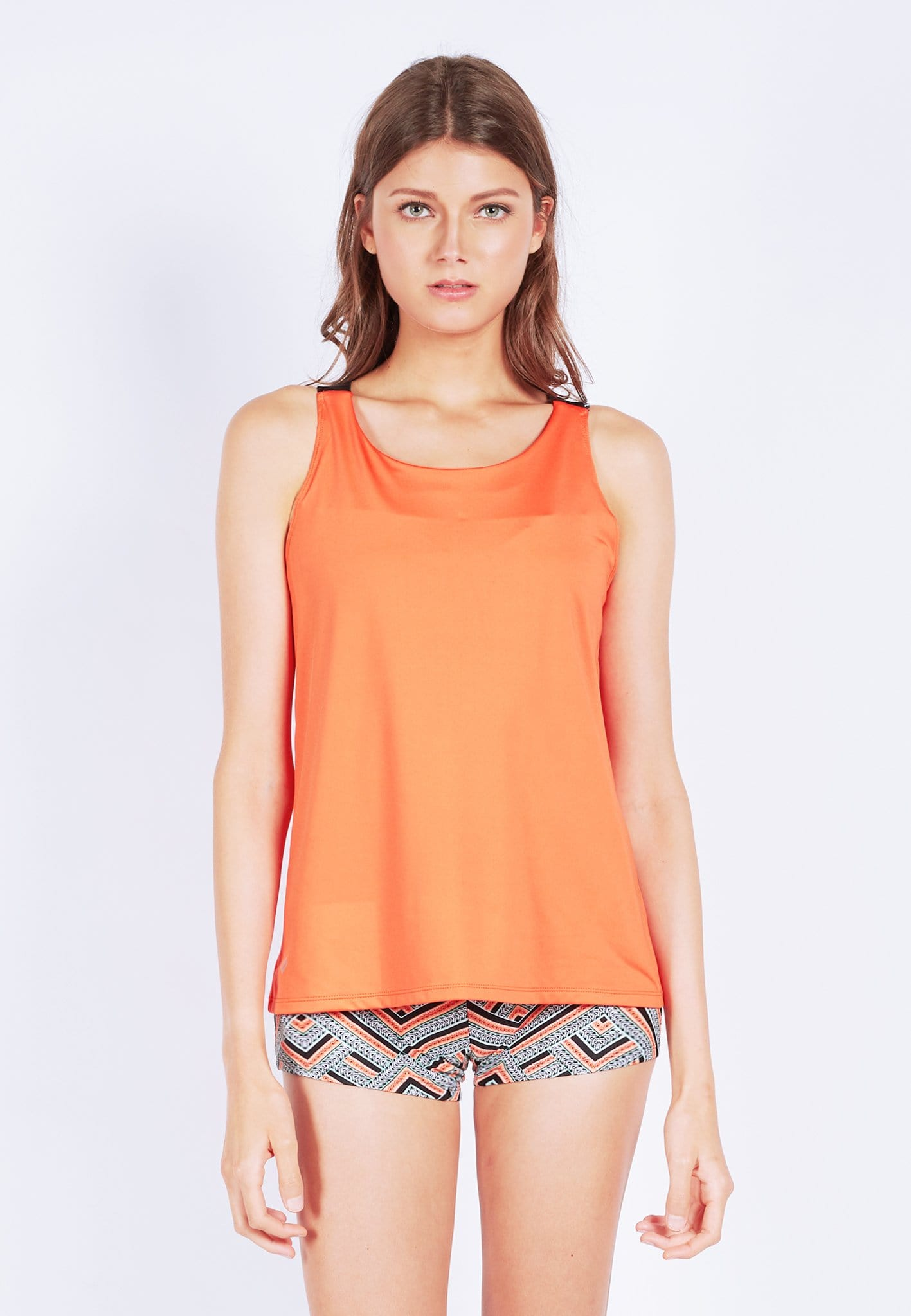 FUNFIT Barre-With-Us Tank Top in Burnt Orange (S - XL)
