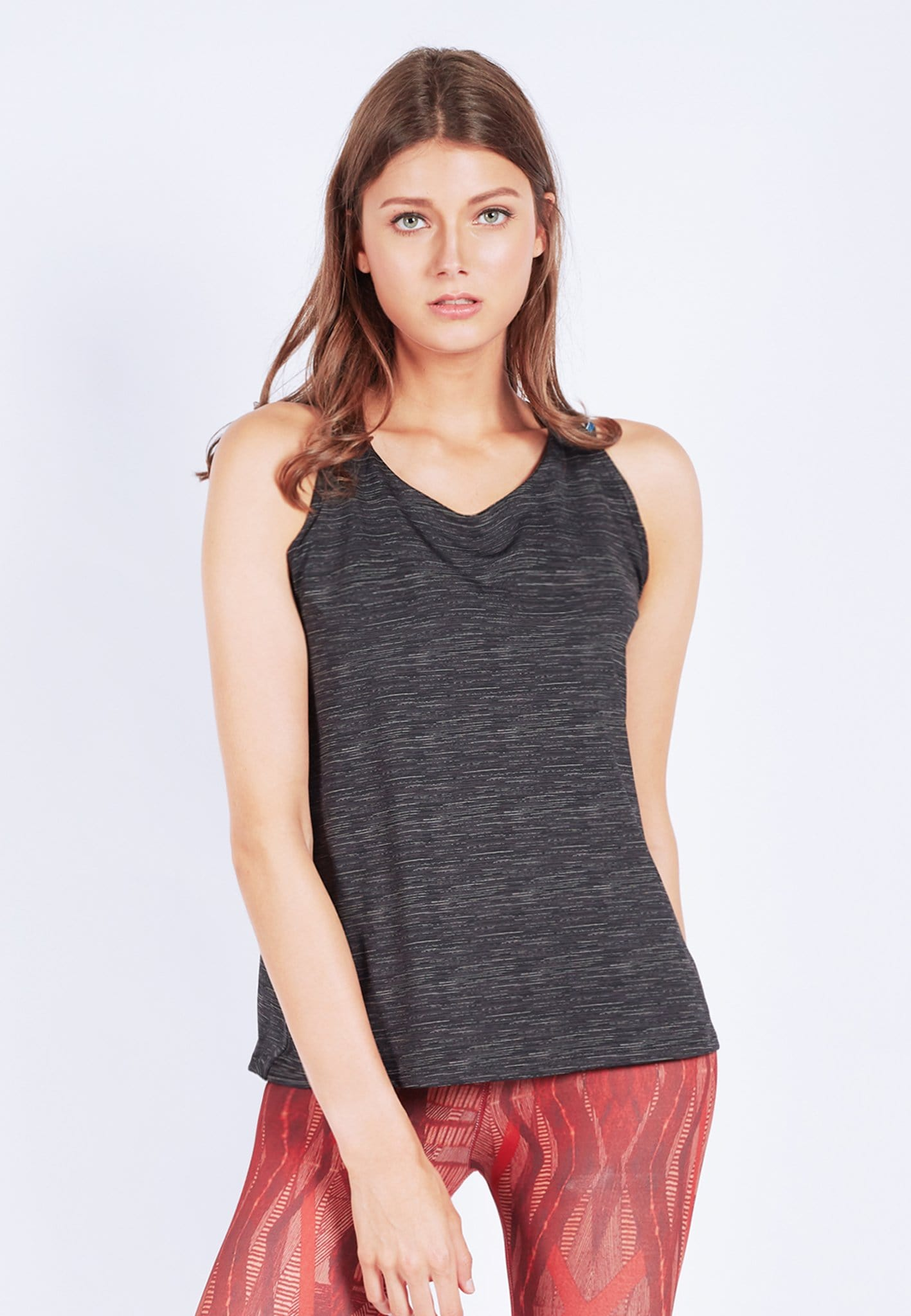 FUNFIT Barre-With-Us Tank Top in Heather Black (S - XL)