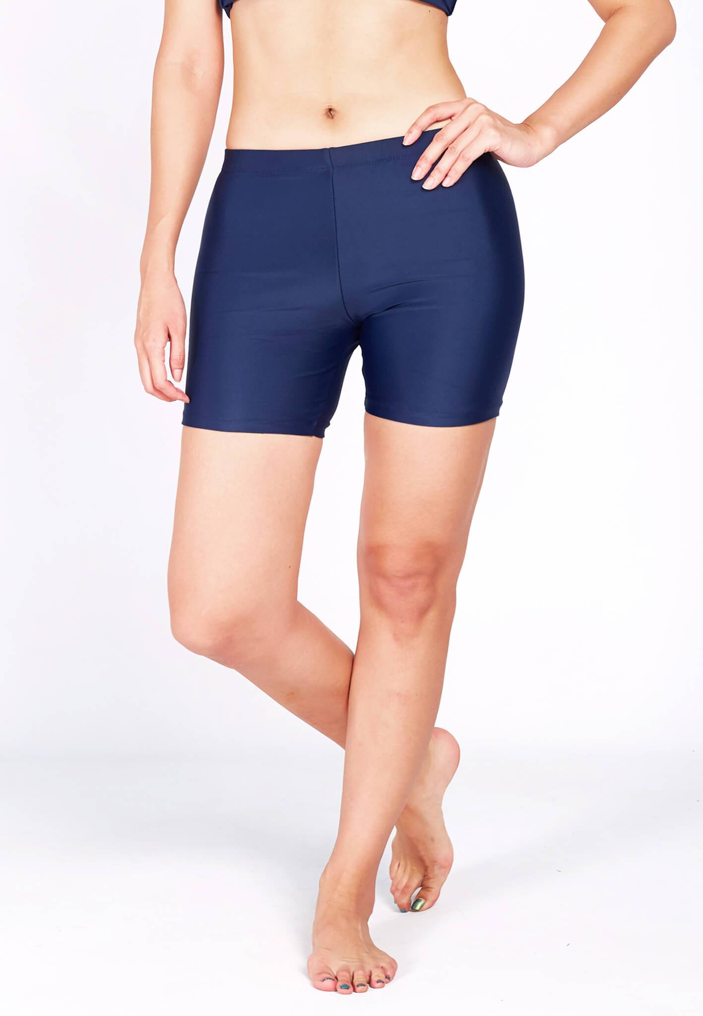 Basic Bike Shorts (Back Logo) in Navy (S - L) - FUNFIT