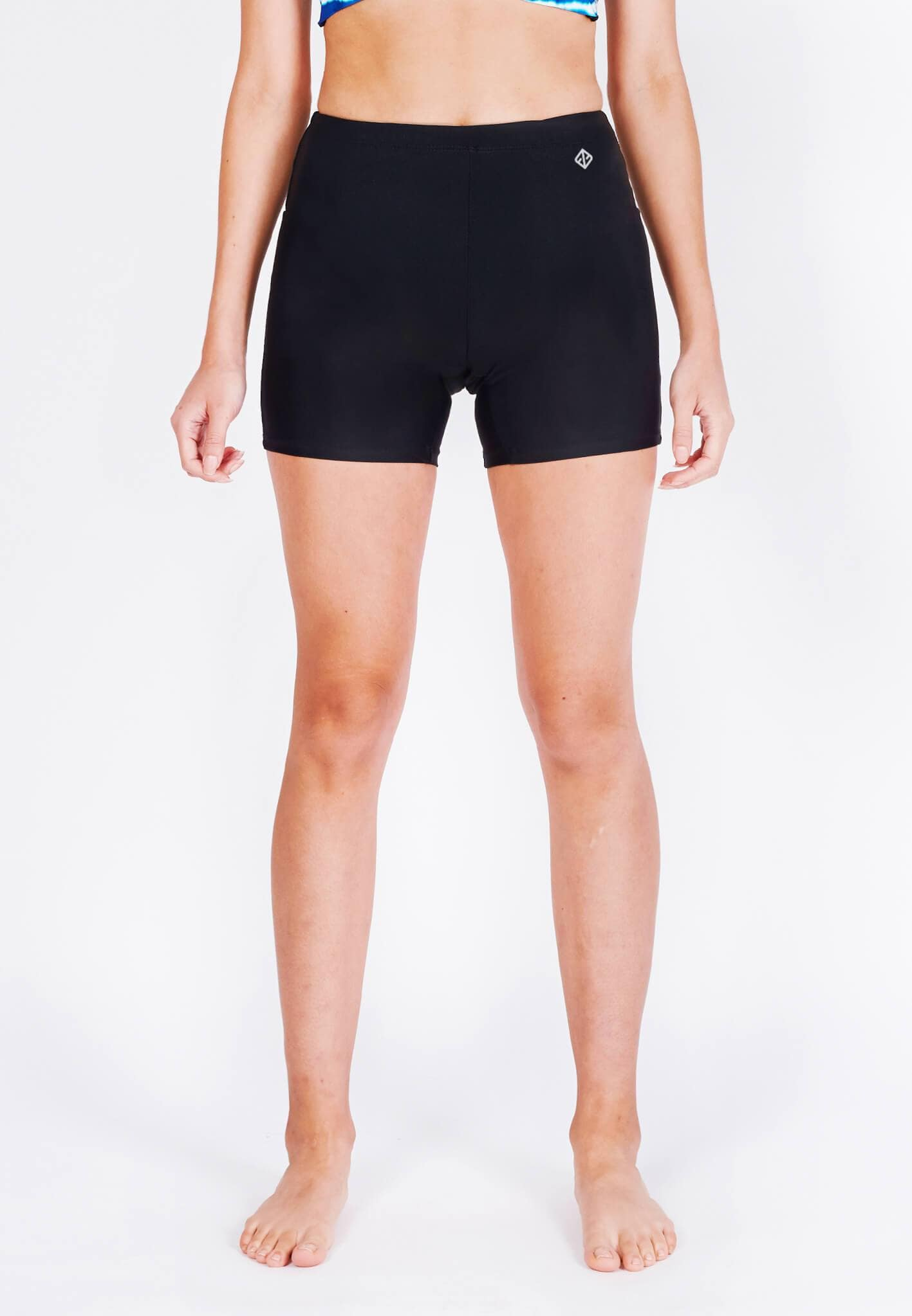 Basic Bike Shorts (Front Logo) in Black (S - L) - FUNFIT