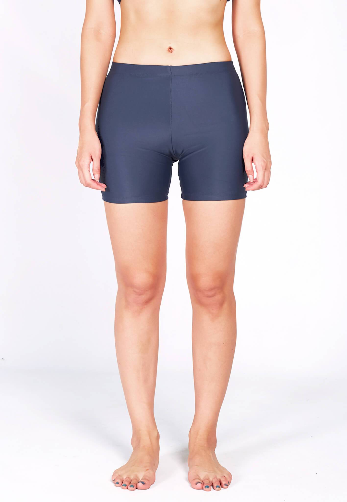 Basic Bike Shorts (Back Logo) in Grey (S - XL) - FUNFIT