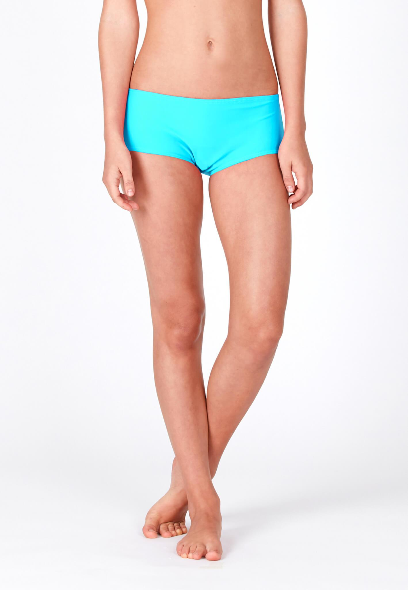 Boyleg Swim Bottom in Turquoise (S - L) - FUNFIT