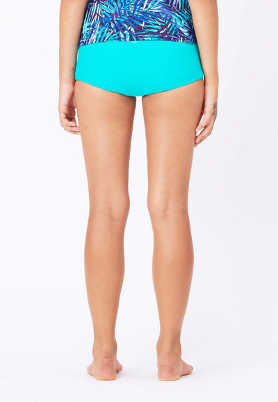 Boyleg Swim Bottom in Turquoise - FUNFIT