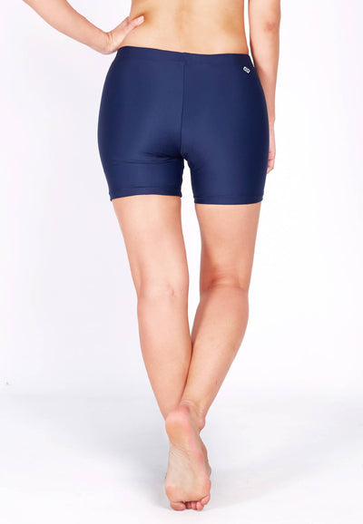 Basic Bike Shorts (Back Logo) in Navy - FUNFIT