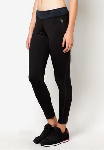 Tapered Bottom Leggings in Black/Grey (S - L) - FUNFIT