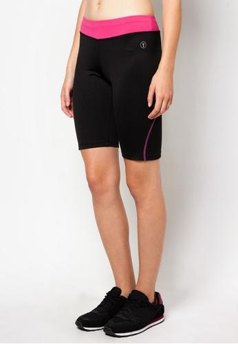 FUNFIT Bike Shorts in Black/Pink (S - L)