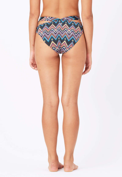 Cut Out Swim Bottom in Aztecal Print - FUNFIT