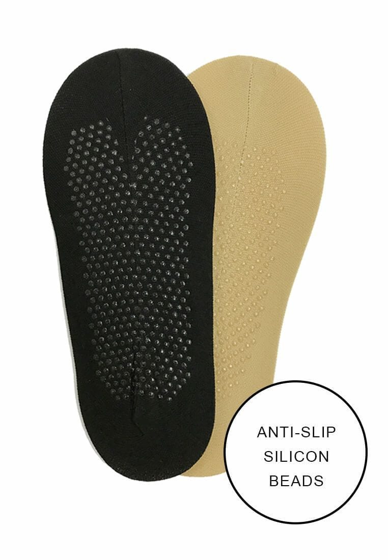 Basic Foot Cover (with Anti Slip) in Black - FUNFIT