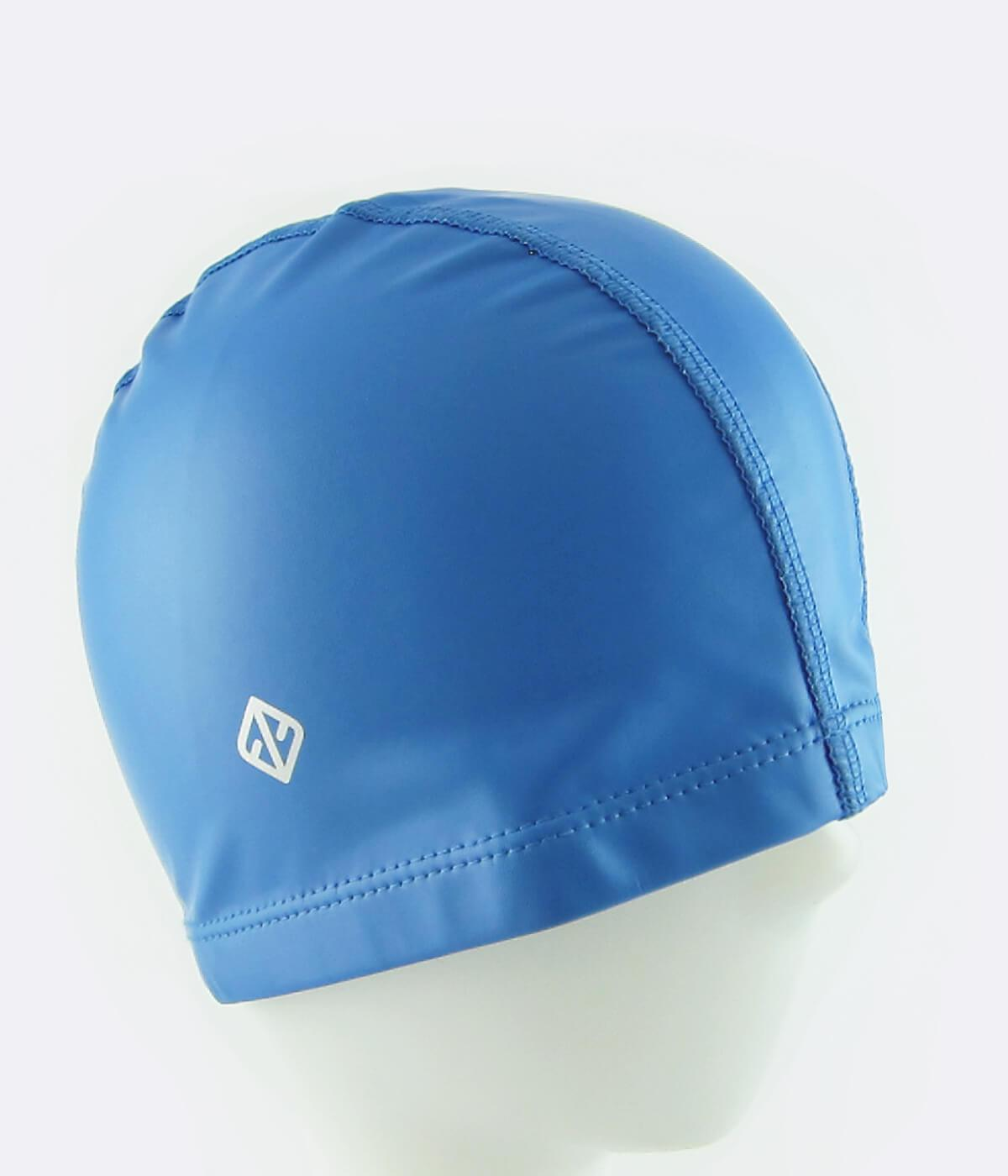 FUNFIT PU Coated Swimming Cap in French Blue
