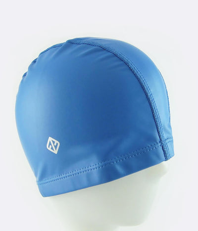 PU Coated Swimming Cap in French Blue - FUNFIT