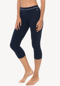 Rhythm 7/8 Midi Leggings in Navy/ White (S - 3XL)
