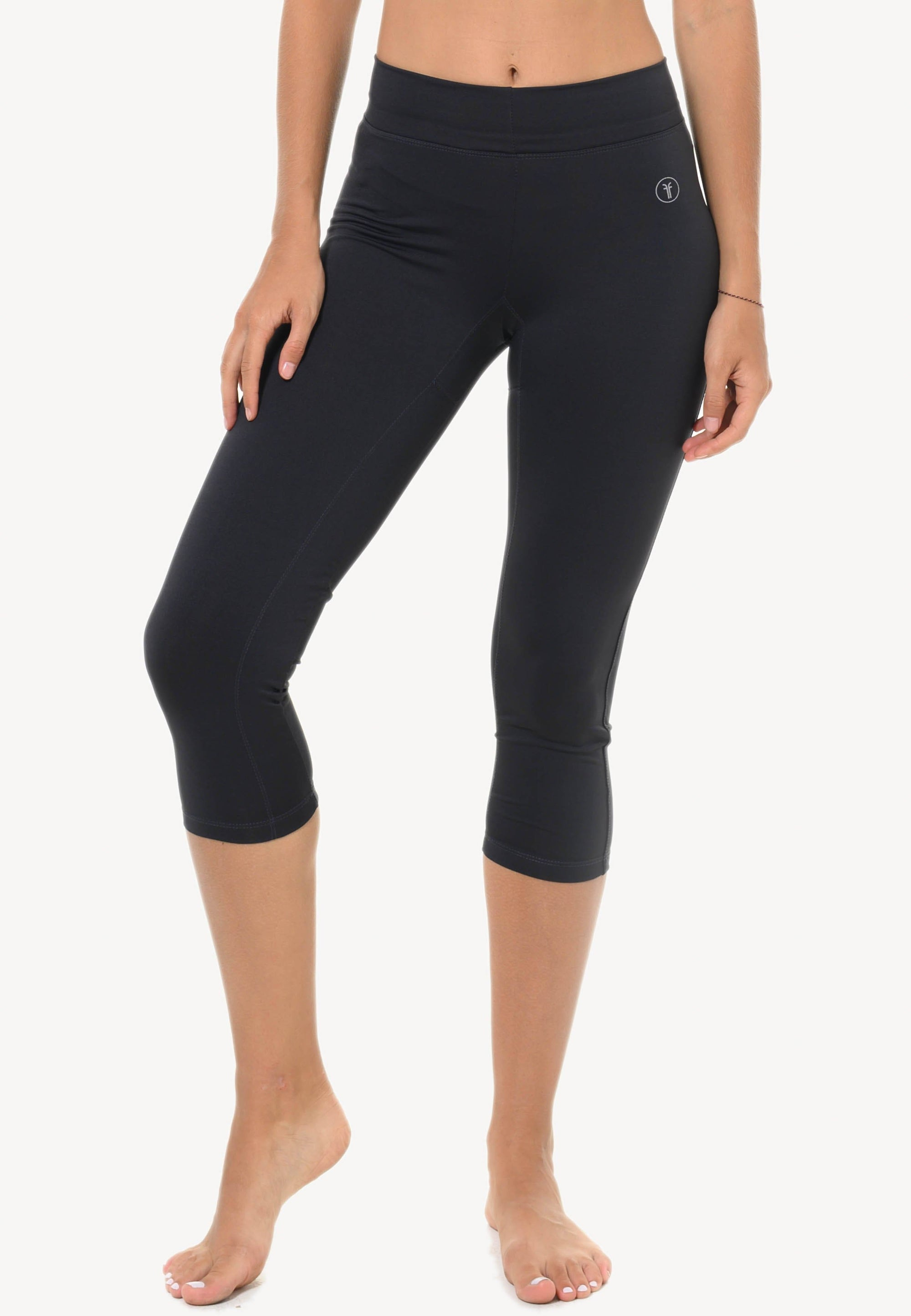 Basic Capris in Navy with Back Trim (S - XL)