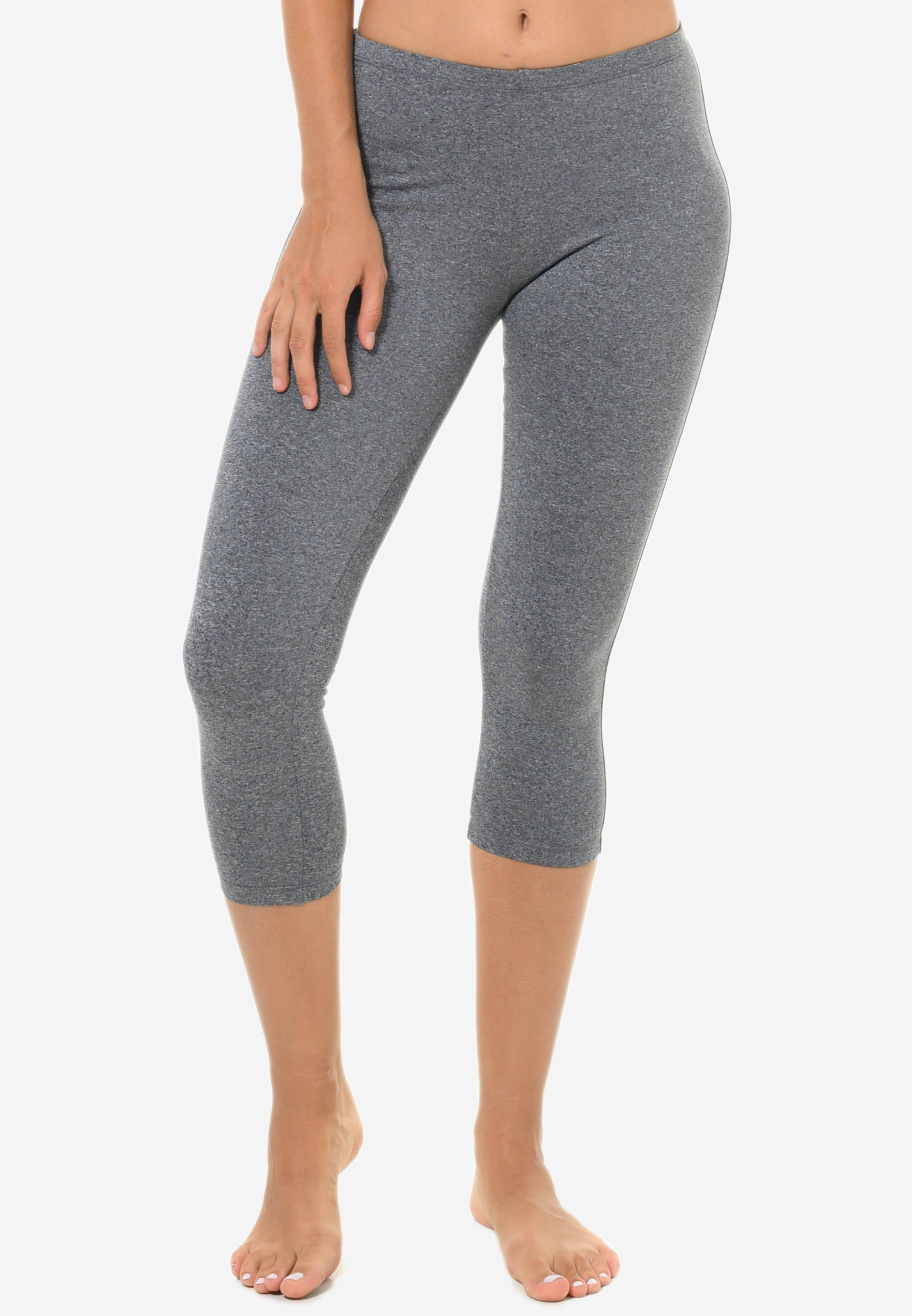 FUNFIT Basic Capris in Heather Grey (S - XL)
