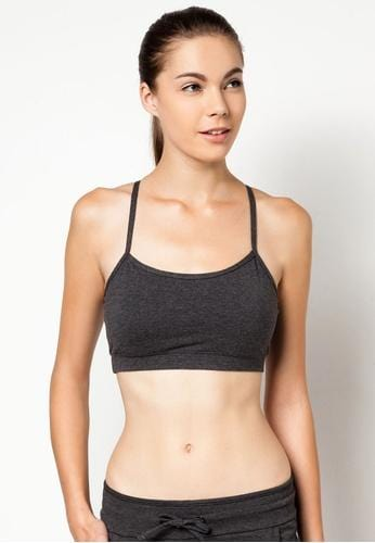 Classic Strappy Sports Bra in Heather Grey (S - 2XL)