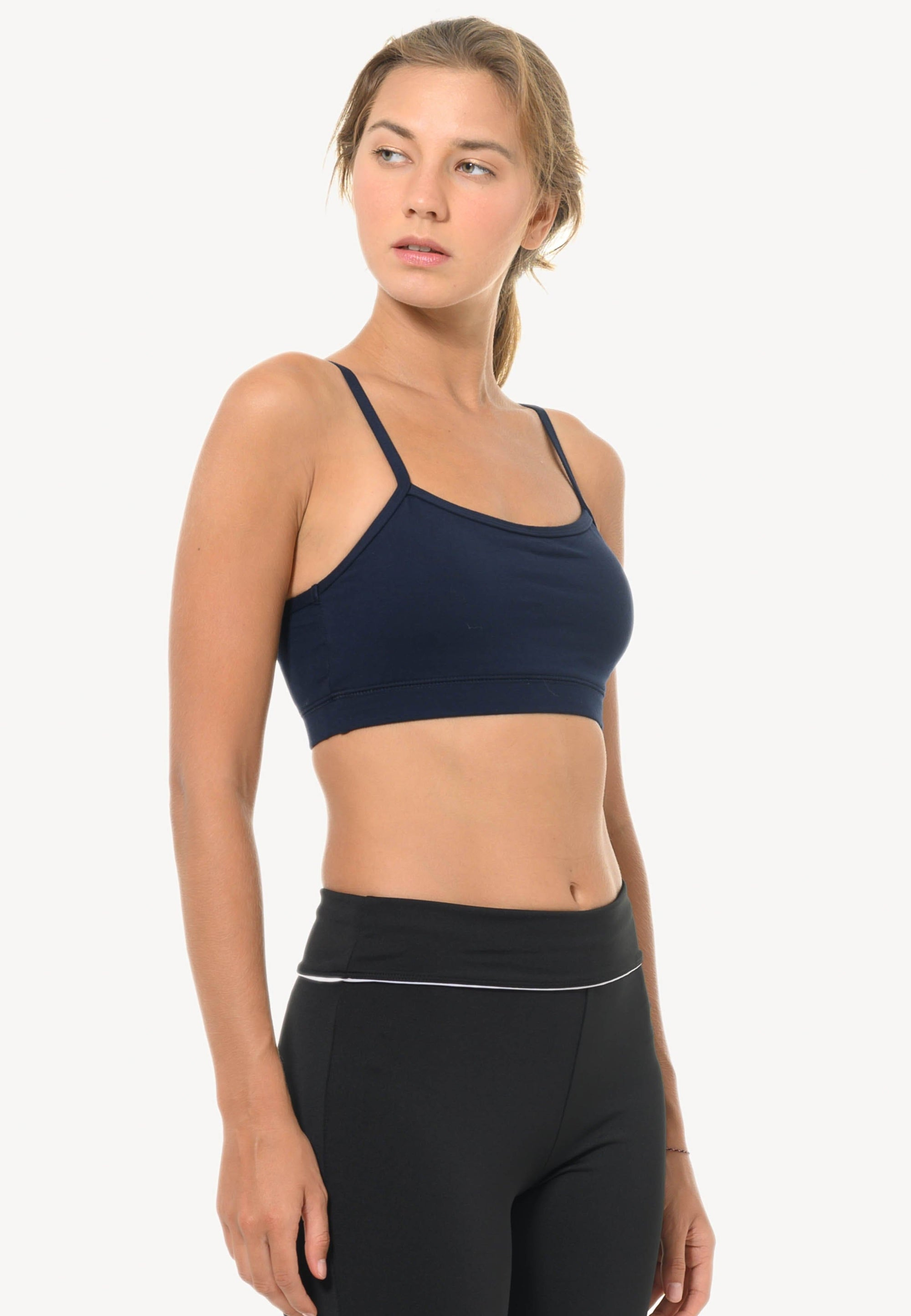 Classic Strappy Sports Bra in Navy (S - 2XL)