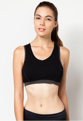 FUNFIT Impulse Cotton Sports Bra in Black (S - 3XL)