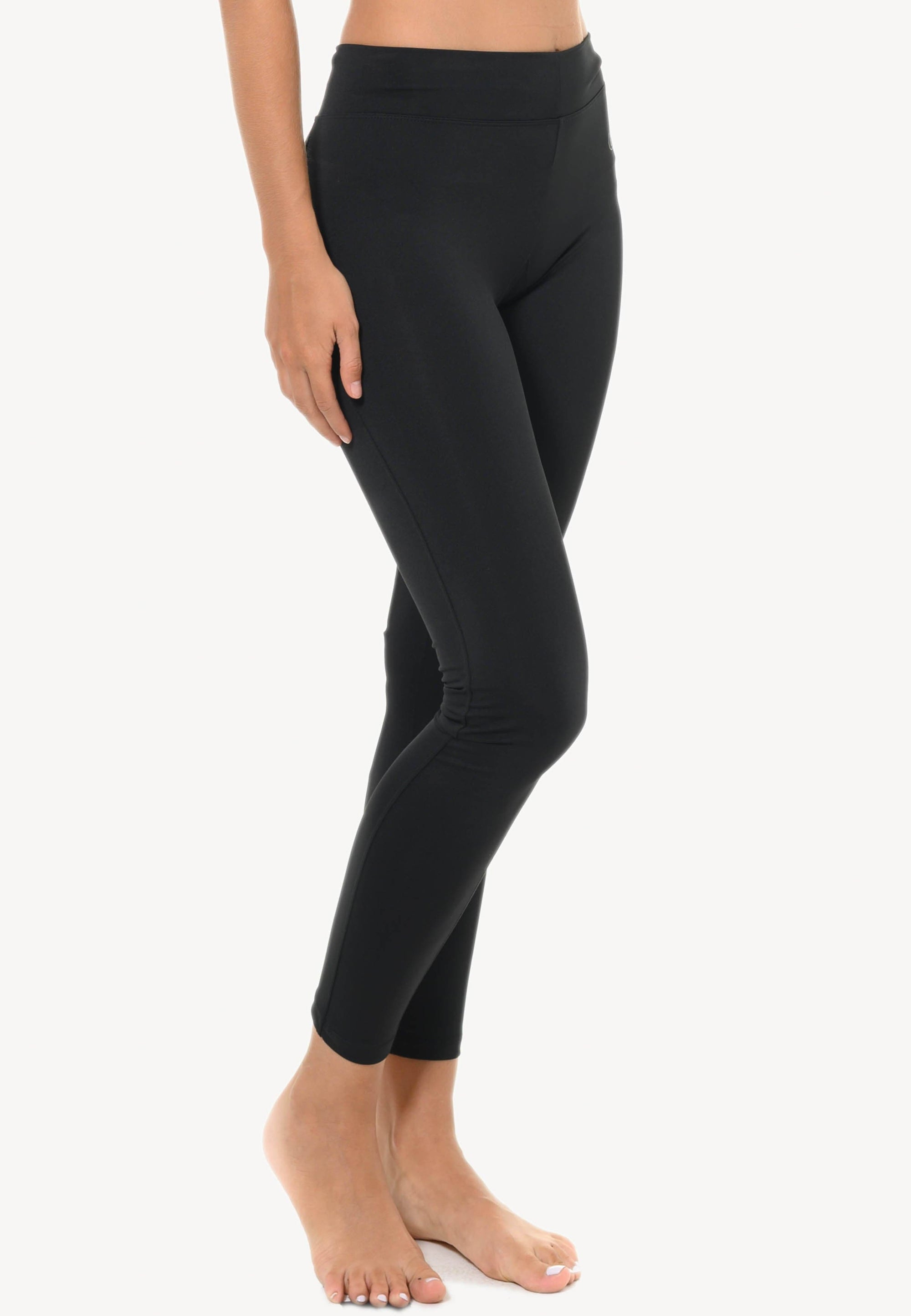 FUNFIT Basic Leggings in Black (with Back Trim) (S - 2XL)