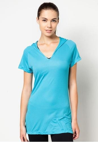 FUNFIT Active Core Studio Shirt in Aqua Blue (S - 2XL)