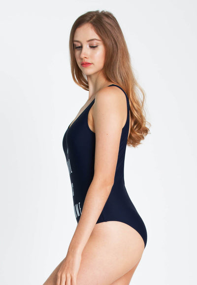 """A Girl Has No Name"" Swimsuit in Navy - FUNFIT"