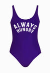 """Always Hungry"" Swimsuit in Purple"