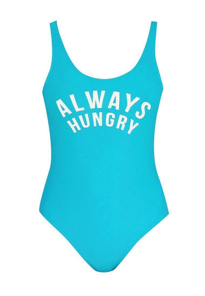 """Always Hungry"" Swimsuit in Turquoise - FUNFIT"