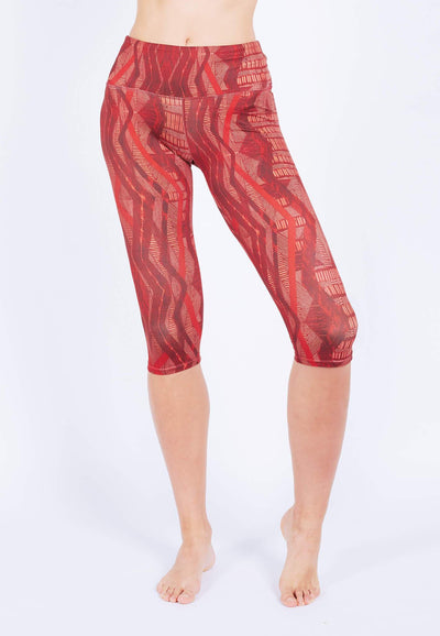 INTENSITY 3/4 Capris (with Keeperband®) in Aeneas Print (XS - 2XL) - FUNFIT