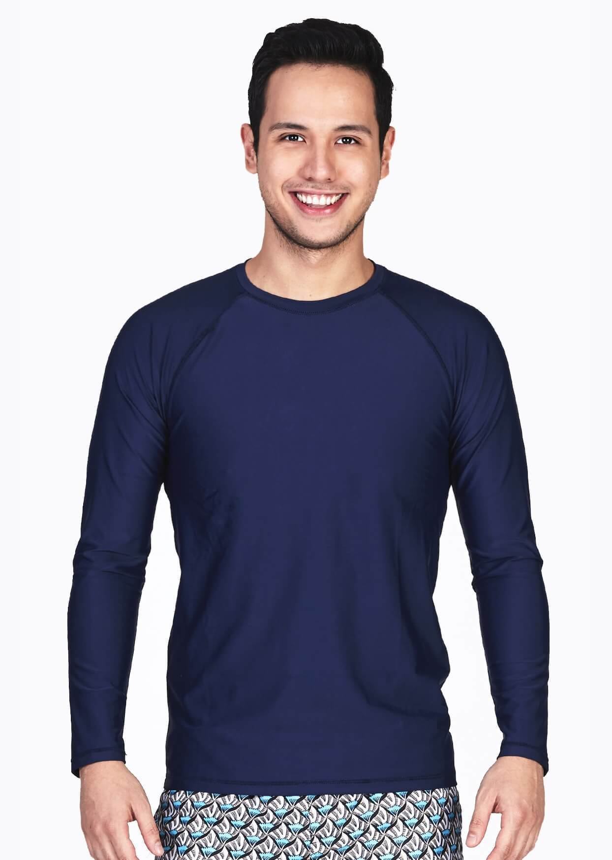 FUNFIT UPF50+ Crew Neck Rash Top in Navy