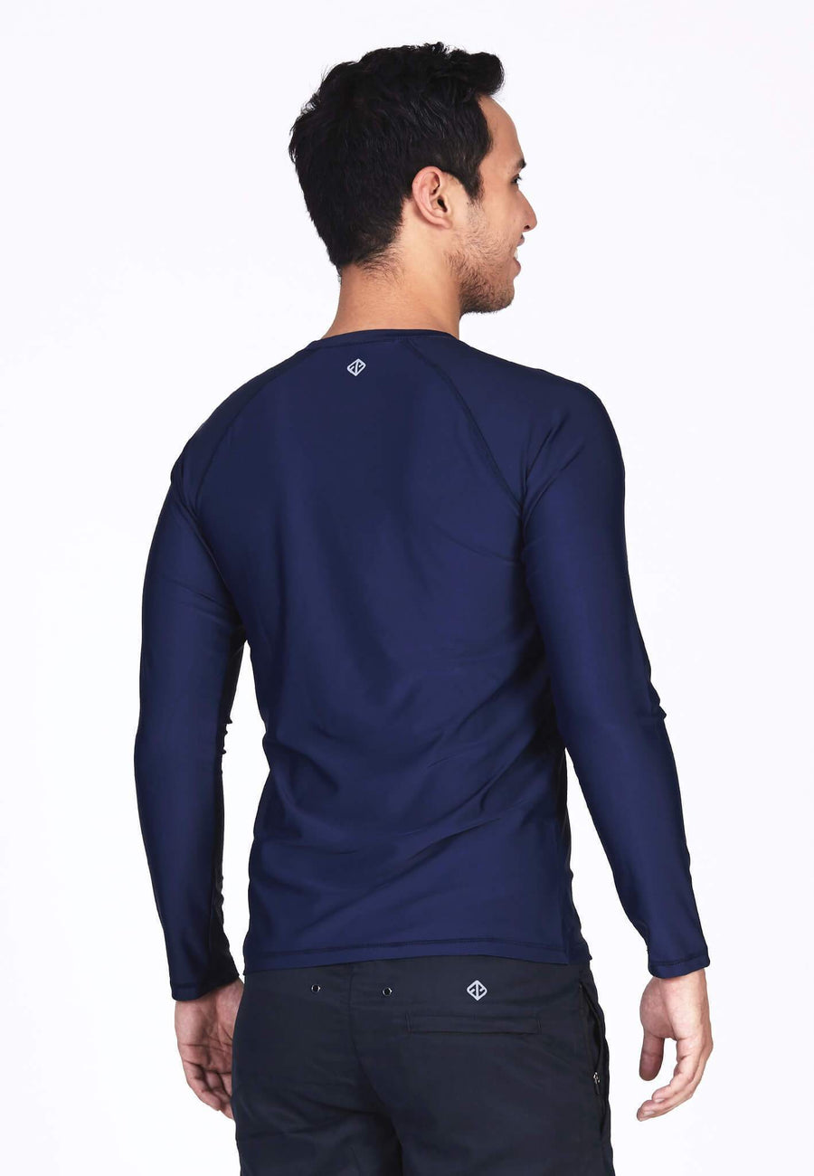 UPF50+ Crew Neck Rash Top in Navy