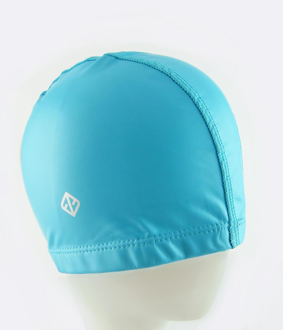 FUNFIT PU Coated Swimming Cap in Light Blue