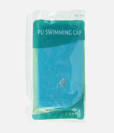PU Coated Swimming Cap in Light Blue - FUNFIT