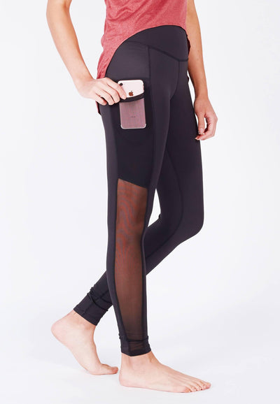 LIMITLESS Side-Panel Mesh Leggings (with Keeperband®) in Black (XS - 3XL) - FUNFIT