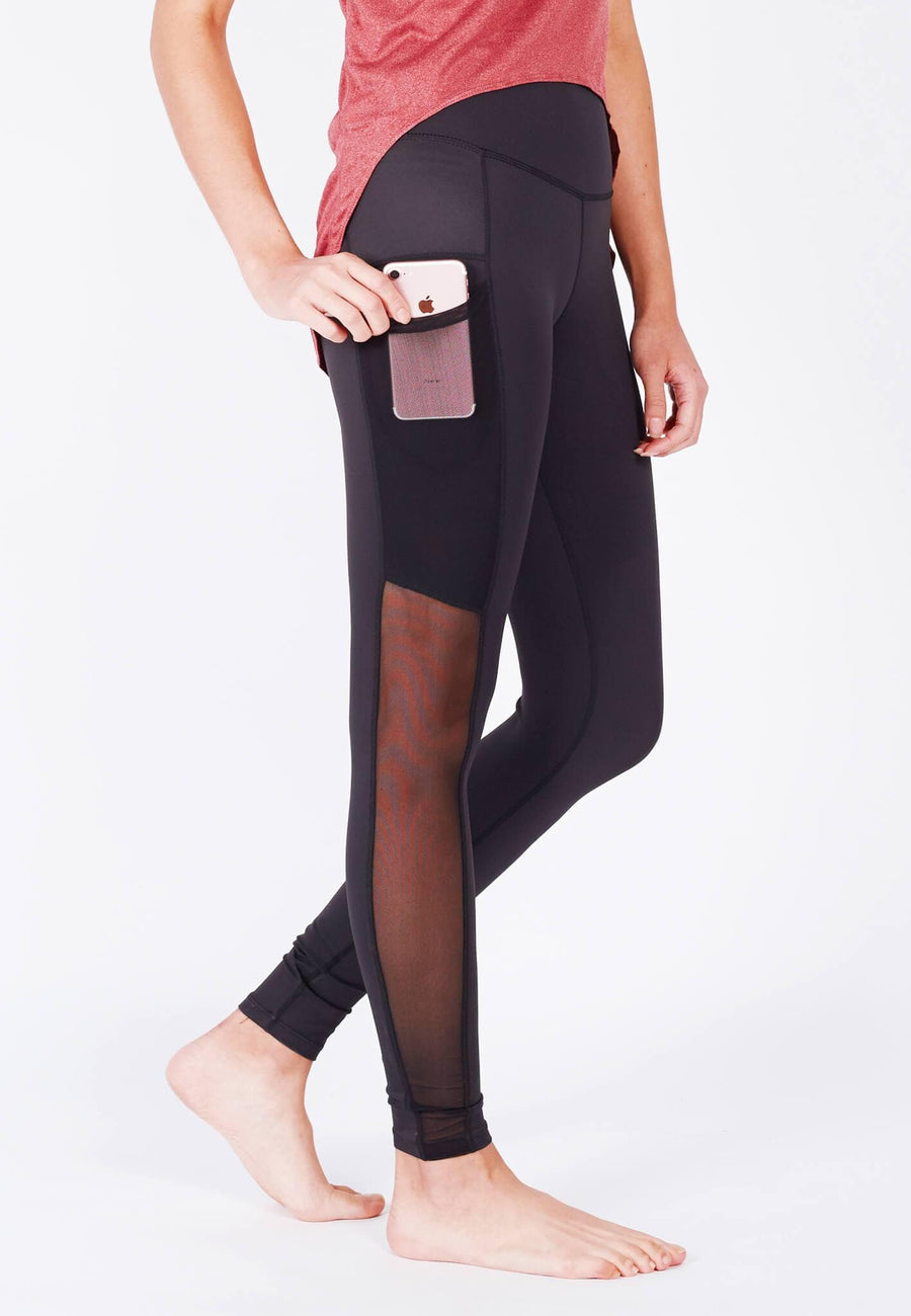 LIMITLESS Side-Panel Mesh Leggings (with Keeperband®) in Black - FUNFIT