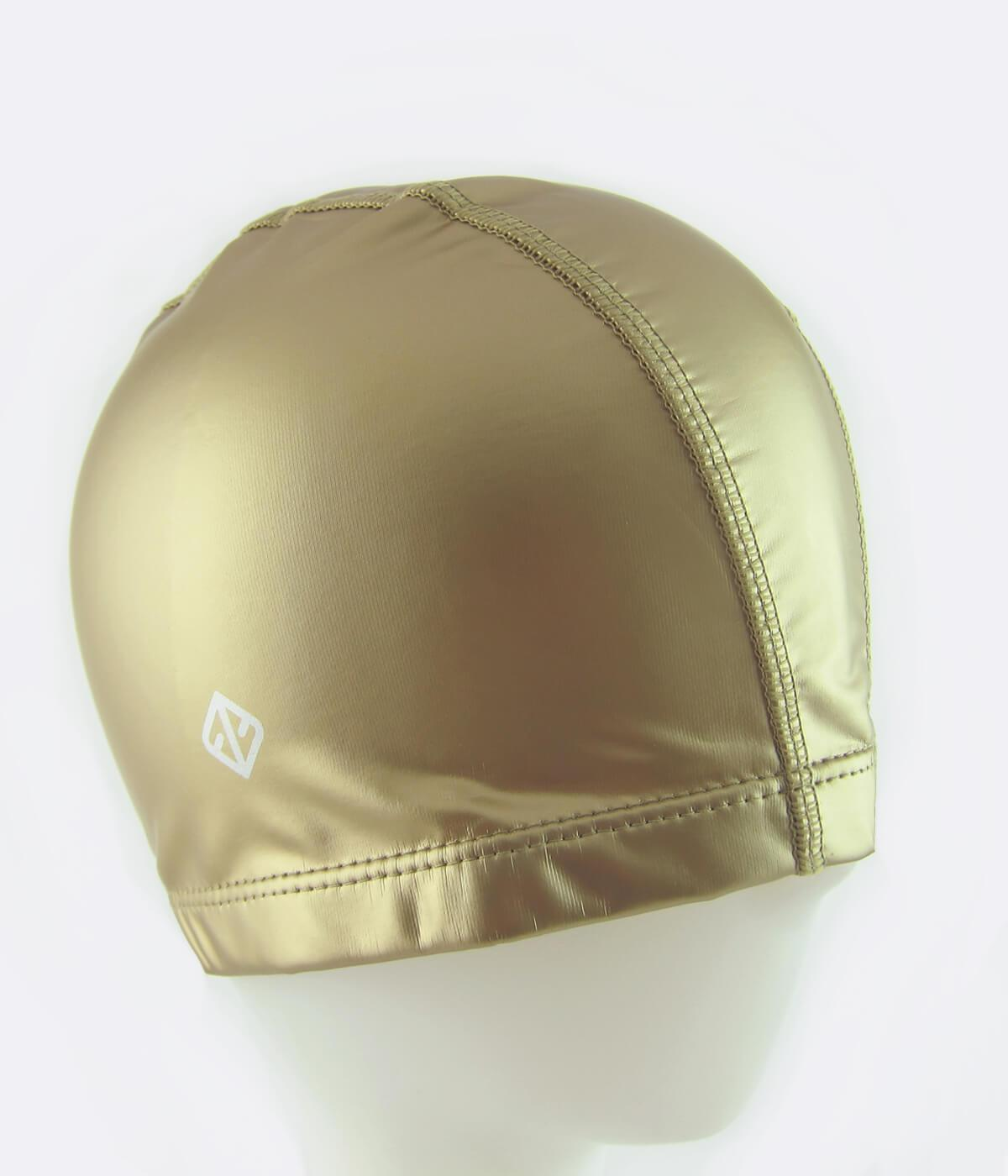 PU Coated Swimming Cap in Matte Gold - FUNFIT