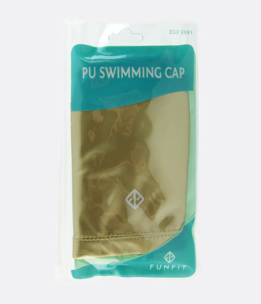 PU Coated Swimming Cap in Matte Gold