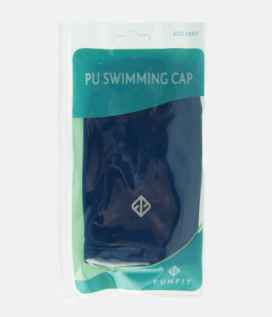 PU Coated Swimming Cap in Navy - FUNFIT