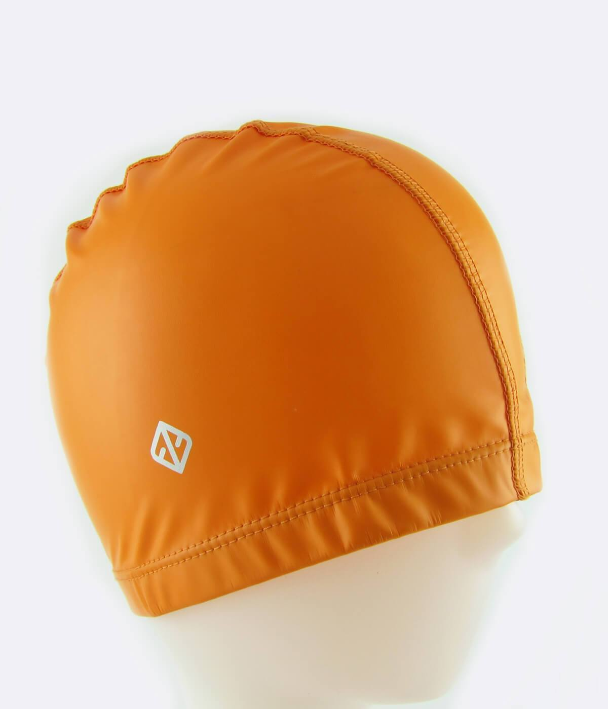 PU Coated Swimming Cap in Orange - FUNFIT