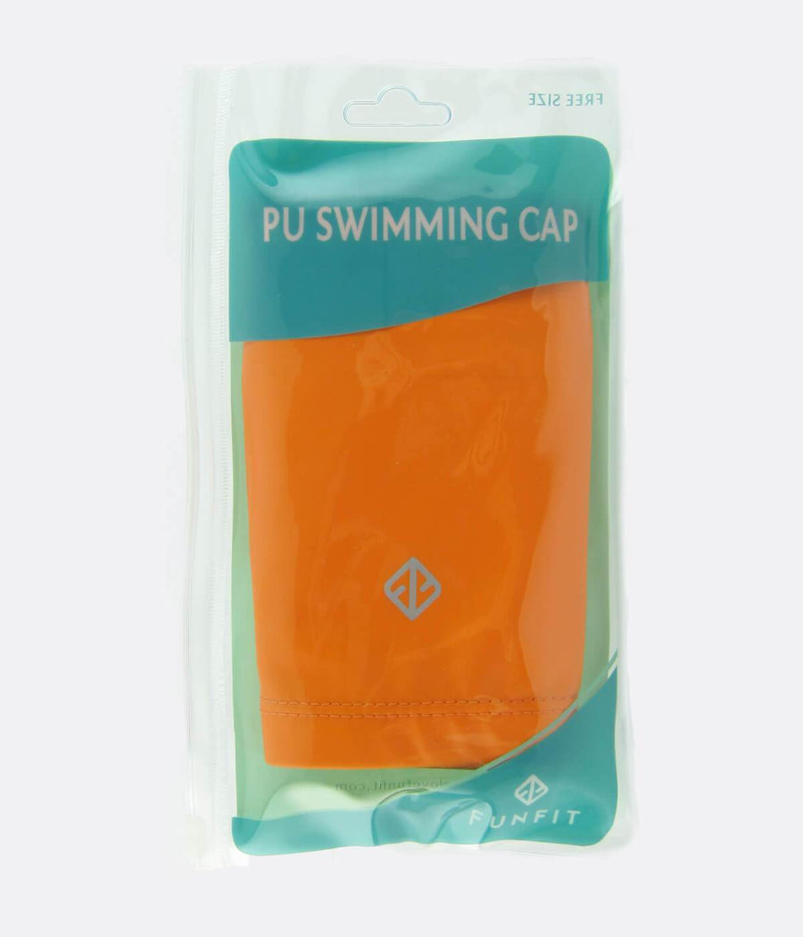 PU Coated Swimming Cap in Orange