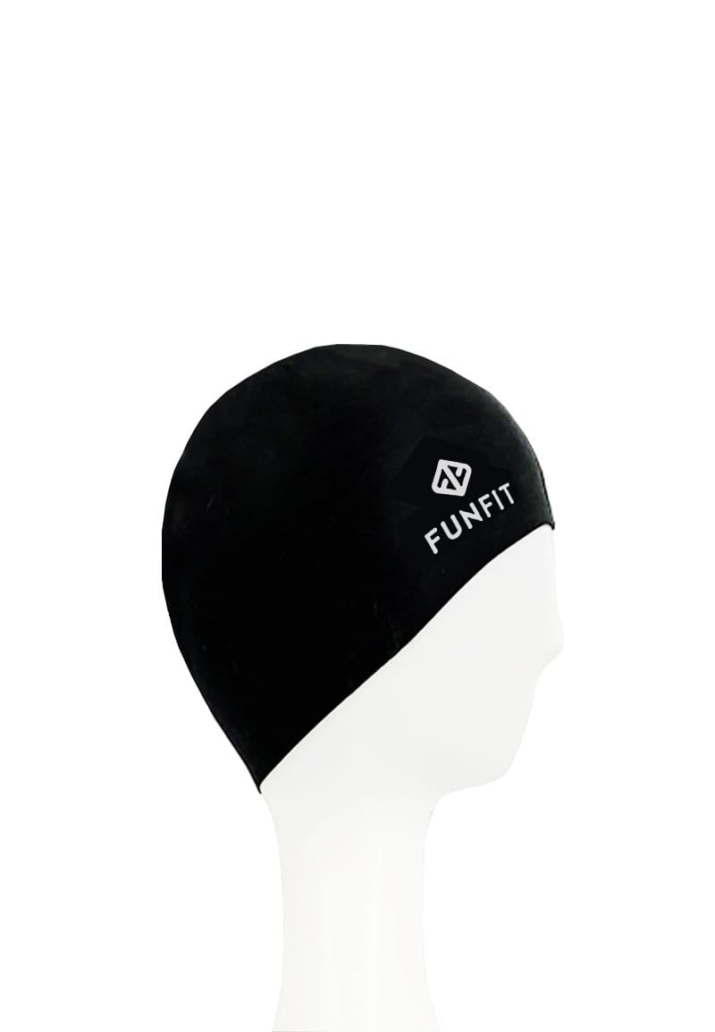 PU Coated Swimming Cap in Jet Black