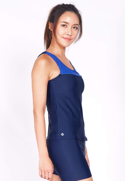 Performance Tankini Top in Navy/ Reflex Blue (S - XL) - FUNFIT