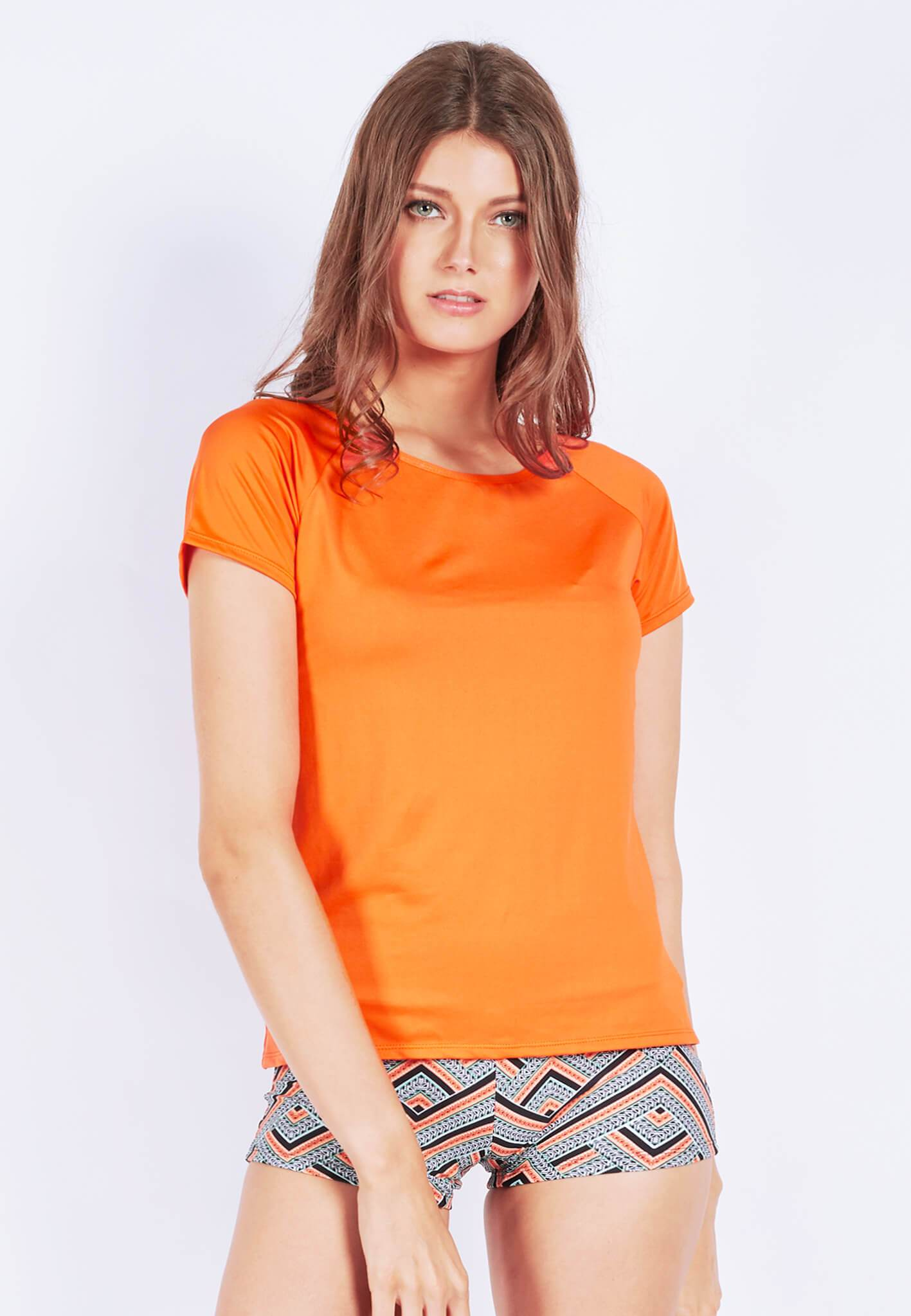 Power-Up Tee in Cider Orange (S - XL) - FUNFIT