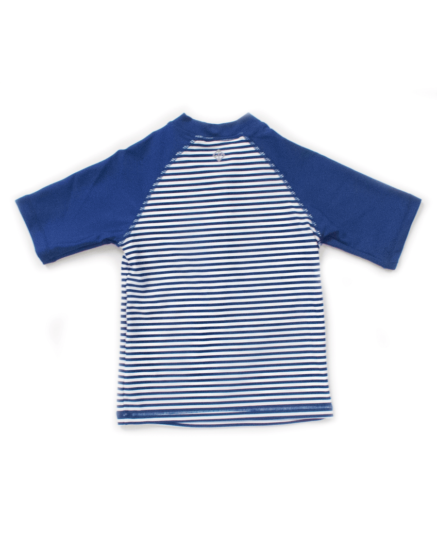UPF50+ Junior Sunvest (Unisex) in Stripes/ Navy - FUNFIT