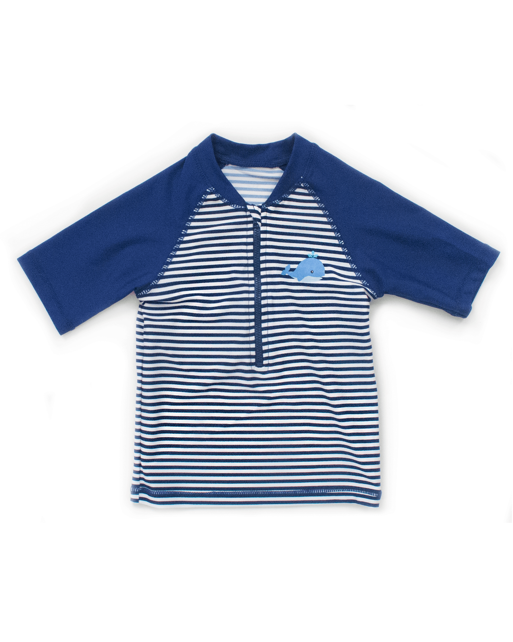 FUNFIT UPF50+ Junior Sunvest (Unisex) in Stripes/ Navy