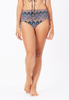 Ruched Swim Bottom in Aztecal Print - FUNFIT