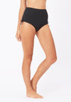Ruched Swim Bottom in Black - FUNFIT