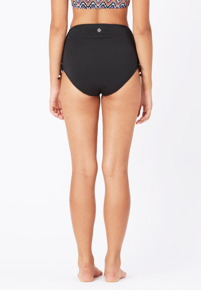 Ruched Swim Shorts in Black