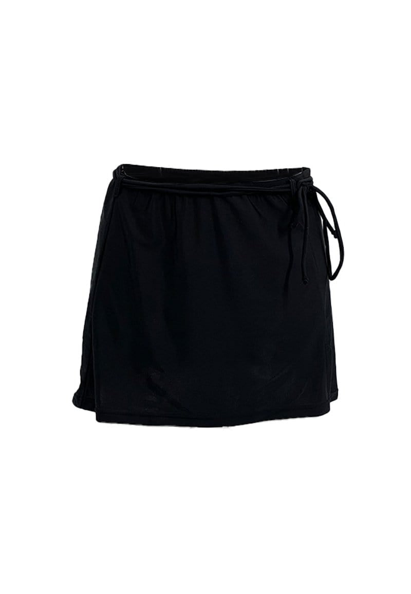 FUNFIT Basic Swim Mid-Length Skirt (Black) | S - L