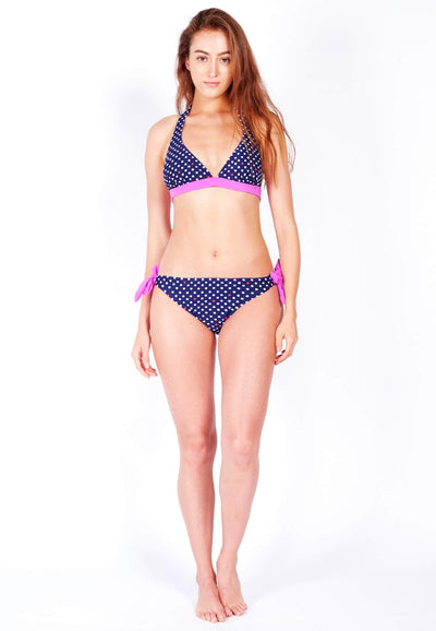 Swim Set: Classic Bikini and Brief in Purple Dotted Print (S - L)