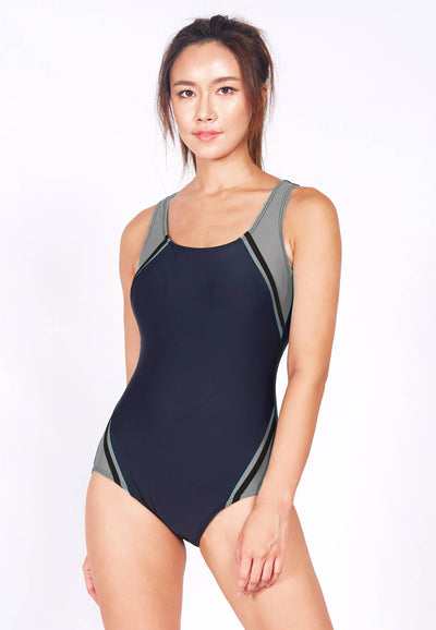 Vector Racer One Piece in Black/ Grey (XS - XL) - FUNFIT