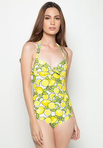 Underwire One Piece in Lemonade Print (XS - XL)